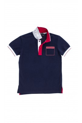 Navy blue boys polo shirt, Aston Martin