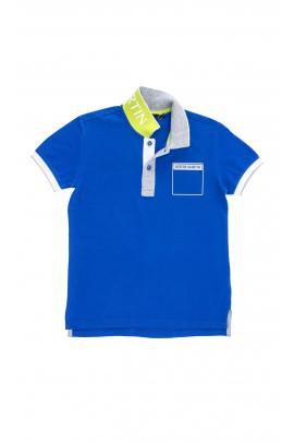Blue polo shirt, Aston Martin