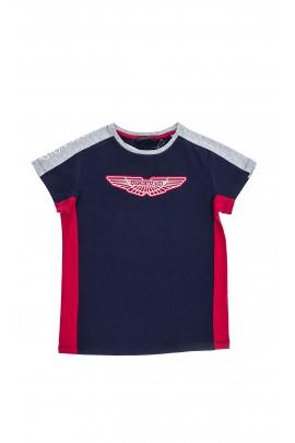 Navy blue T-shirt, Aston Martin