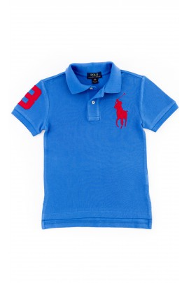Boys dark blue polo shirt by Polo Ralph Lauren