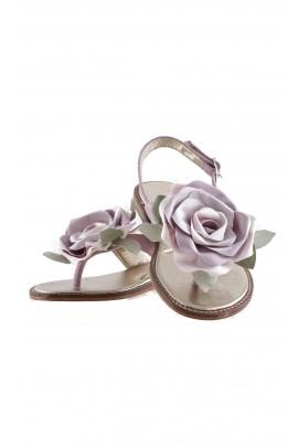 Pink nubuck sandals, Monnalisa