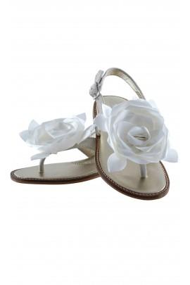Silver nubuck sandals, Monnalisa