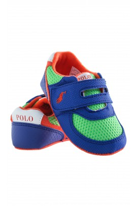 Green-sapphire baby shoes, Ralph Lauren