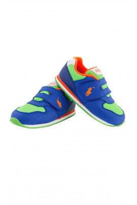 Sapphire-and-green sports shoes, Polo Ralph Lauren