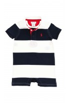 Navy blue-and-white romper, Polo Ralph Lauren