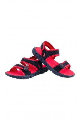 Navy blue-and-red sandals, Polo Ralph Lauren