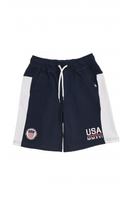 Navy blue-and-white sports shorts, Polo Ralph Lauren