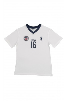 White T-shirt with USA inscription, Polo Ralph Lauren
