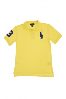 Yellow polo shirt with a sapphire horse, Polo Ralph Lauren