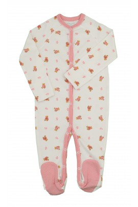 White romper with pink bears, Polo Ralph Lauren