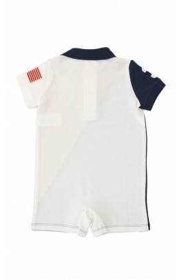 Navy blue-and-red boys romper, Polo Ralph Lauren