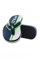 Navy blue-and-green flip-flops, Polo Ralph Lauren