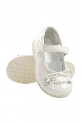 White shoes with inscription, Blumarine Baby