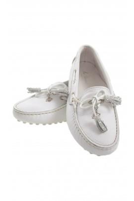 White moccasins, Miss Blumarine