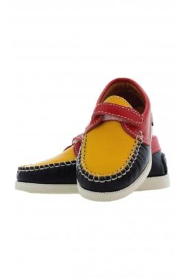 navy blue-and-yellow shoes, Atlanta Mocassin