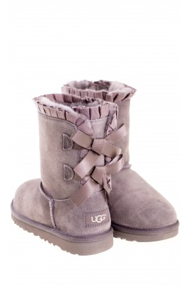 UGG BAILEY BOW boots in eggplant colour, UGG Australia