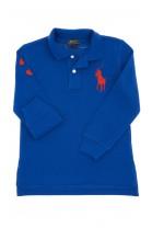 Sapphire, long-sleeved boy's polo shirt, Polo Ralph Lauren