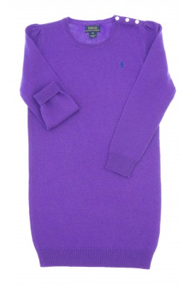 Violet, long-sleeved, wool dress, Polo Ralph Lauren
