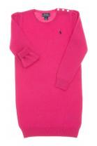 Pink, long-sleeved, wool dress, Polo Ralph Lauren