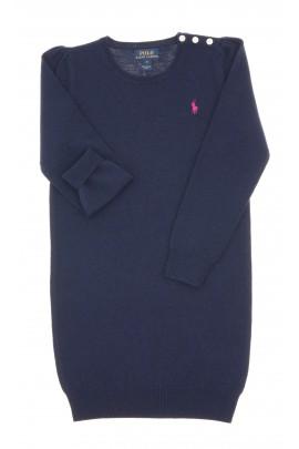 Navy blue, long-sleeved, wool dress, Polo Ralph Lauren