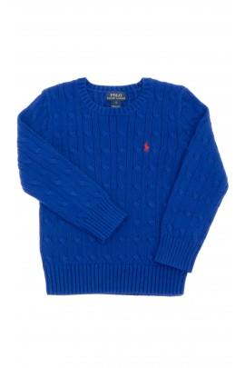 Sapphire sweater, round neckline, Polo Ralph Lauren