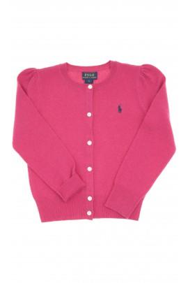 Dark pink girls cardigan, Polo Ralph Lauren