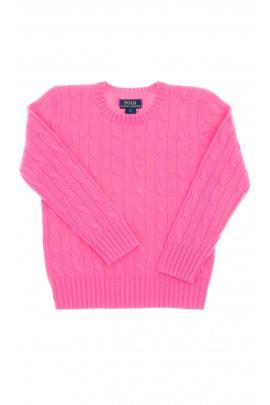Pink sweater, round neckline, Polo Ralph Lauren