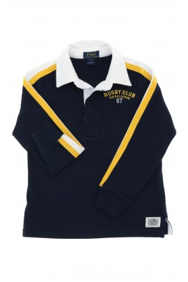 Navy blue polo shirt with a white collar, Polo Ralph Lauren