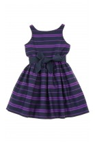Dress in navy blue-and-violet checker, Polo Ralph Lauren