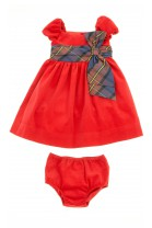 Red corduroy dress with sleeve, Polo Ralph