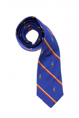 Sapphire tie with horizontal stripes, Polo Ralph Lauren