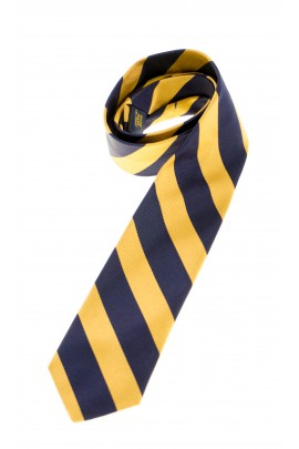 Tie with horizontal navy blue-and-yellow stripes, Polo Ralph Lauren