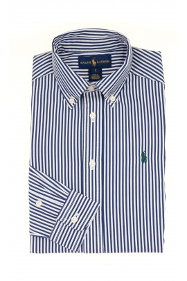 Shirt with white-and-navy blue stripes, Polo Ralph Lauren