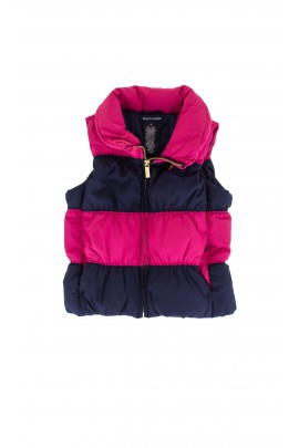 Navy blue and pink sleeveless jacket, Polo Ralph Lauren