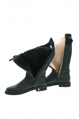 Black, warmed-up girls boots, Gallucci