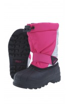 Pink-and-silver snow boots, Polo Ralph Lauren
