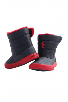 Navy blue-and-red snow boots, Polo Ralph Lauren