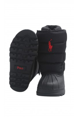 Black snow boots, Polo Ralph Lauren