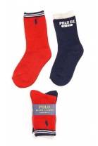 Red and navy blue socks, Polo Ralph Lauren