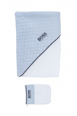 Bathing towel with a washcloth, Hugo Boss