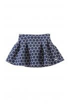 Navy blue patterned skirt, Tartine et Chocolat
