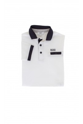 White polo, Hugo Boss
