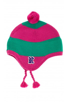 Pink-and-green girl cap, Polo Ralph Lauren