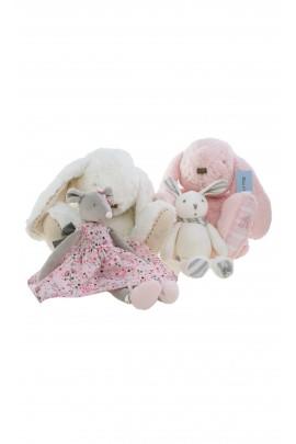 Pink soft rabbit toy 35cm, Tartine et Chocolat