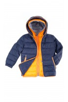 Navy blue-and-orange boy jacket, Aston Martin