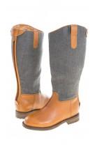 Grey-and-brown girl jackboots, Polo Ralph Lauren