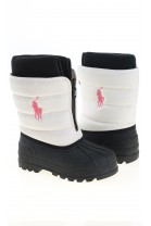 White-and-pink snow boots, Polo Ralph Lauren
