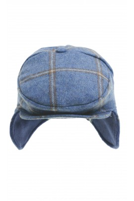 Blue boy cap in checker, Colorichiari