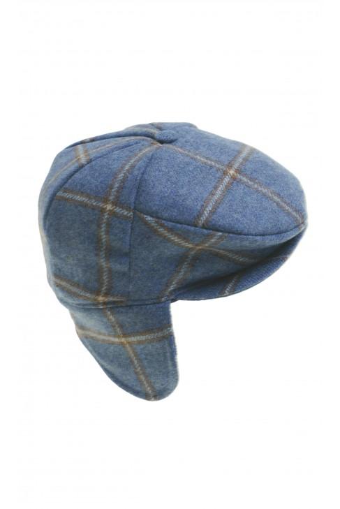 Blue boy cap in checker, Colorichiari