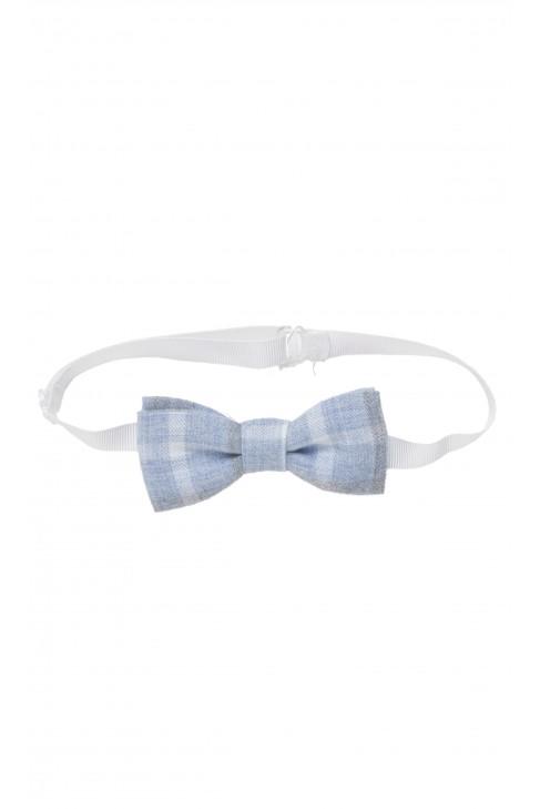 Blue bow in checker, Colorichiari